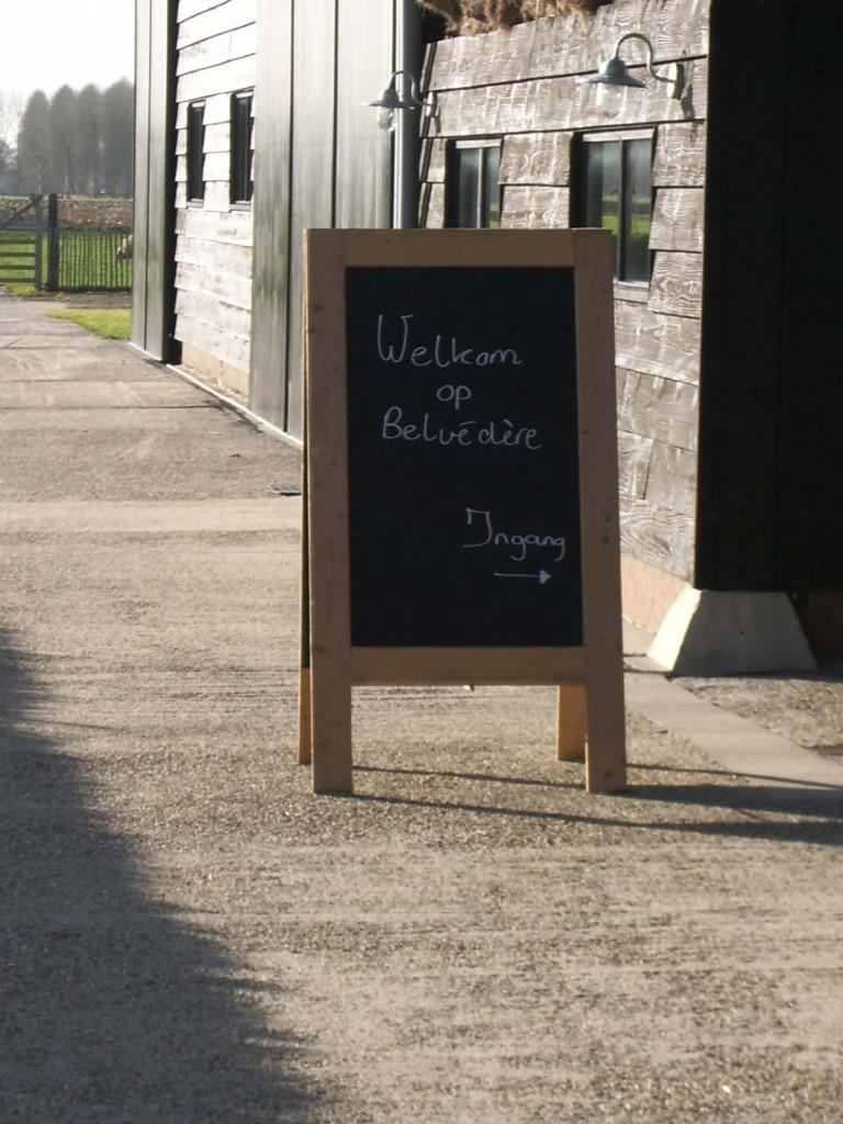 Welkomstbord vergaderzaal Belvedere